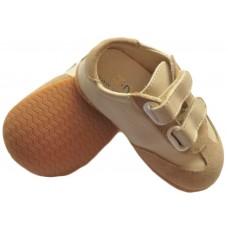 192 JJ beige velcro rubber sole