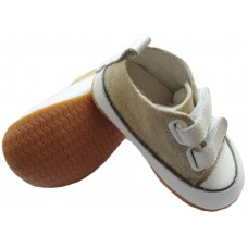 236 canvas sand velcro rubber sole