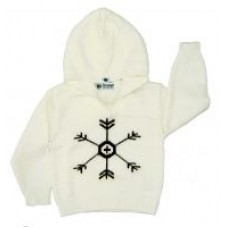 Knit Wear Baby Infant Toodler Ivory Snowflake Sweater Hoodie Size L