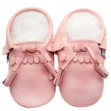 moccasin lace pink